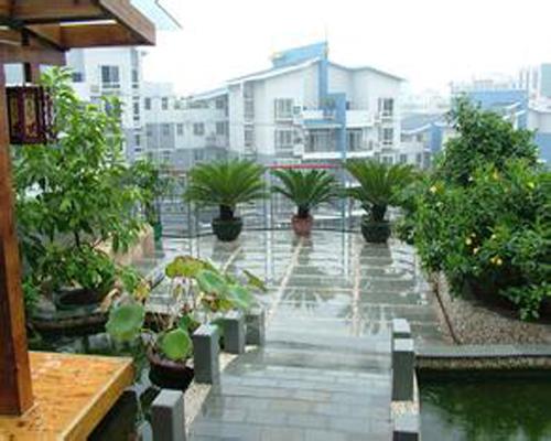 屋顶花园设计,屋顶花园效果图,房顶绿化,屋顶绿化
