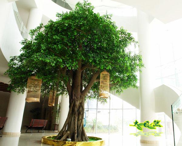 酒店仿真榕树