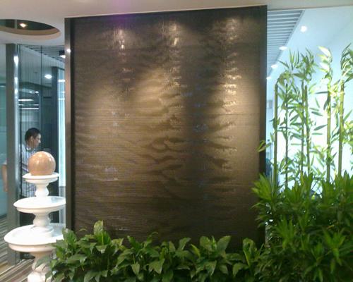 天津室內水幕墻設計, 水幕墻施工,玻璃水幕墻 天津假山,庭院設