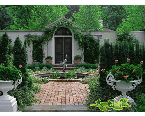 景观工程,苏州润土,庭院设计苏州天邻风景别墅花园 .