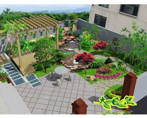 私家花园庭院效果图_装修图库图片