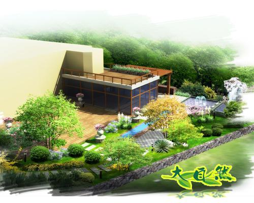 新现代主义欧式庭院景观设计